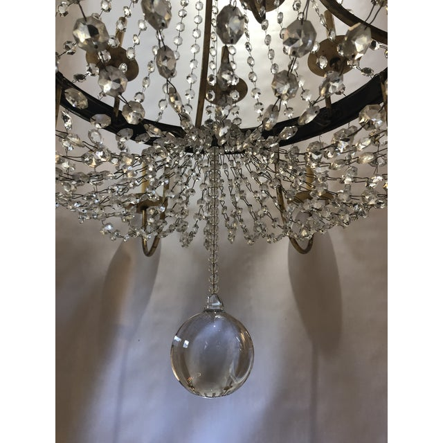 Vintage French Gilt and Crystal 24 Arm Chandelier For Sale - Image 9 of 13