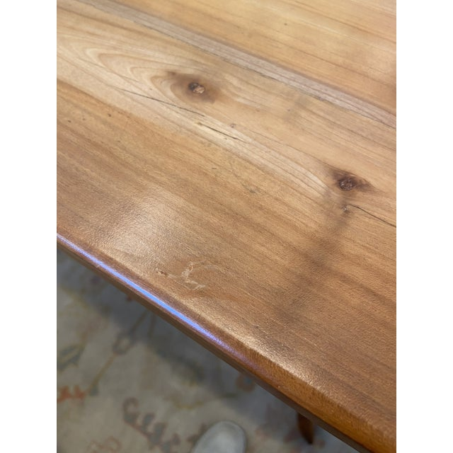 19th Century Antique French Country Handmade Cherry Farm Dining Table For Sale - Image 5 of 8