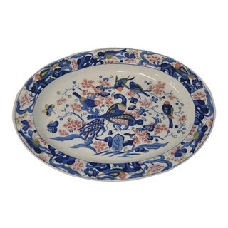 19th C. Hand Painted Stoneware Platter