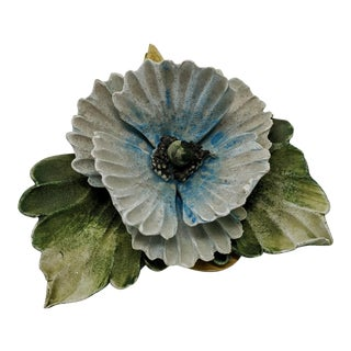 Capodimonte Celani Unglazed Decorative Flower For Sale