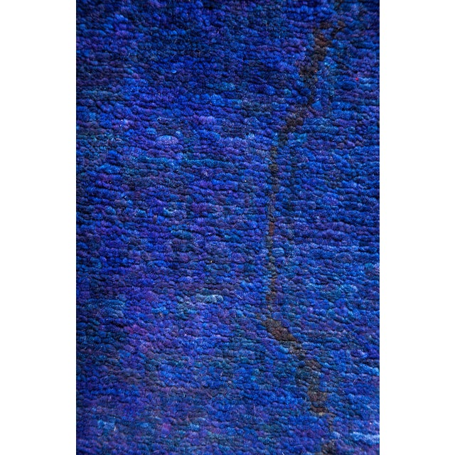 """Contemporary Overdyed Hand Knotted Area Rug - 4'7"""" x 6'8"""" For Sale - Image 3 of 4"""