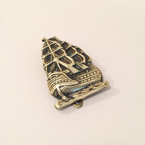 Nautical Brass Nautical Ship Door Knocker For Sale - Image 3 of 6