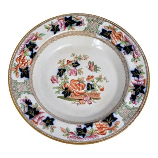 1920s Vintage Metz Chinoiserie Ironstone Bowl For Sale