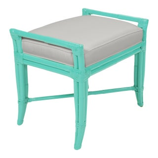 Small Malacca Bench - Turquoise For Sale