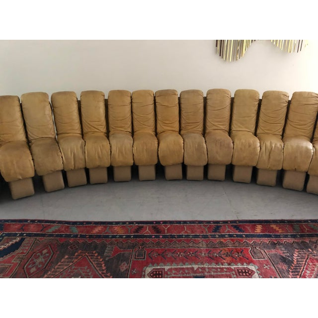 """Monumental De Sede Ds600 """"Non-Stop"""" Snake Sofa For Sale In New York - Image 6 of 9"""