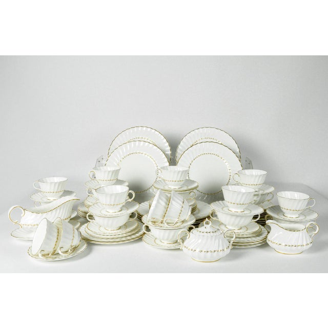 Royal Doulton Mid Century English Royal Doulton Dinnerware - Set of 71 For Sale - Image 4 of 8