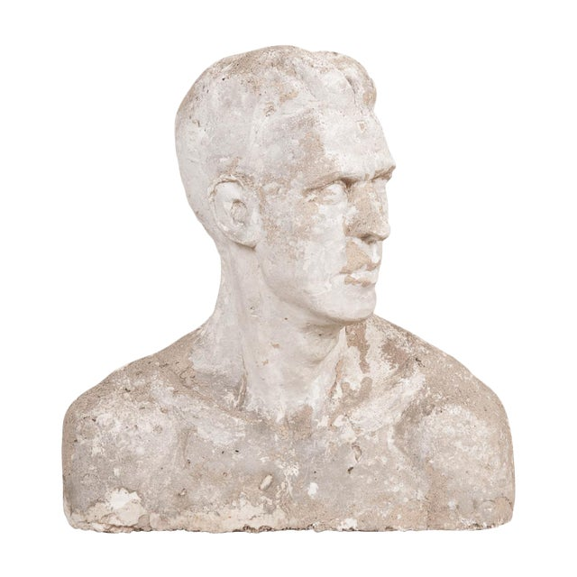 Early 20th Century English Plaster Bust For Sale