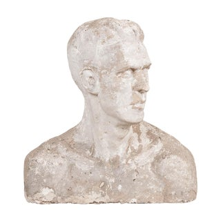 English Early 20th Century Plaster Bust For Sale