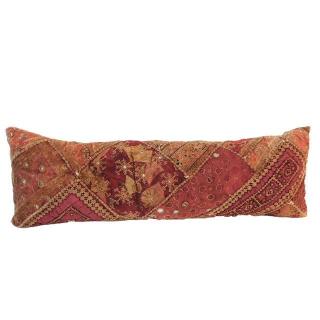 Indian Custom Made Patchwork Long Pillow For Sale