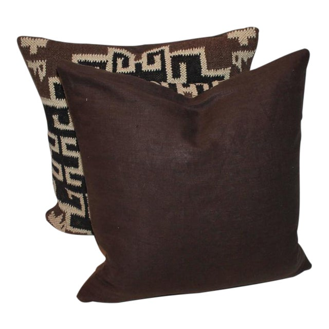Pair of Indian Weaving Pillows - Image 1 of 6