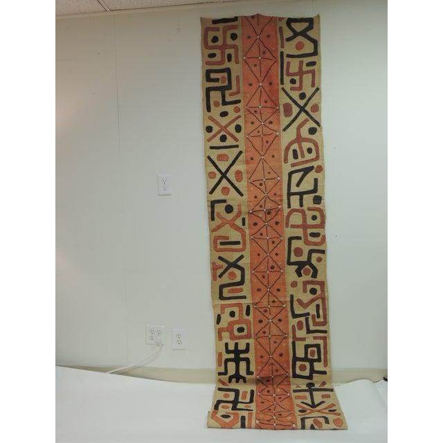 Textile Large Vintage African Applique Ceremonial Applique Kuba Raffia Skirt Panel For Sale - Image 7 of 7
