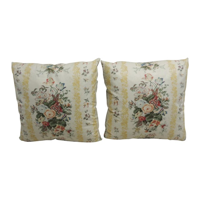 Floral Chintz Pillows - A Pair - Image 1 of 4