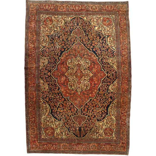Late 19th Century Antique Persian Sarouk Farahan Rug - 8′5″ × 12′4″ For Sale