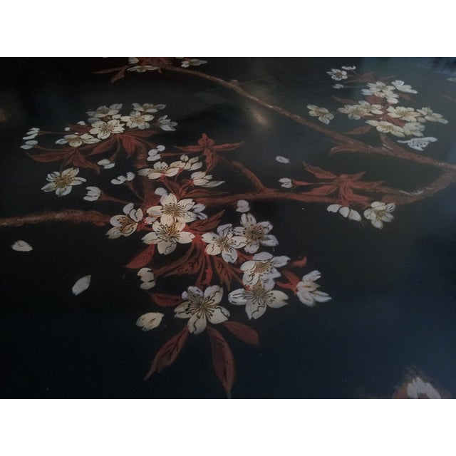 Vintage Red Lacquer Coffee Table For Sale - Image 7 of 8