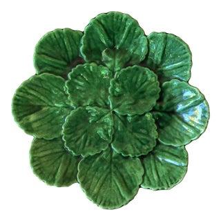 Portuguese Green Majolica Plate