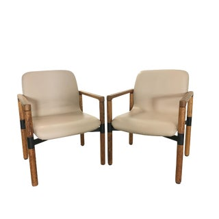 Late 20th Century Industrial Armchairs - a Pair For Sale