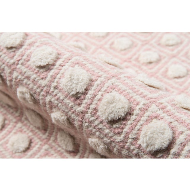 """Erin Gates by Momeni Langdon Windsor Pink Hand Woven Wool Area Rug - 3'9"""" X 5'9"""" For Sale - Image 4 of 7"""