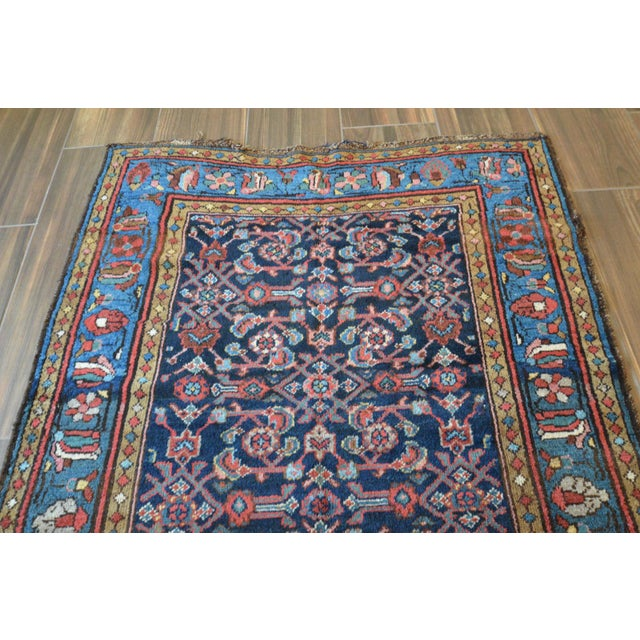 Antique Persian Hand Woven Runner- 3′10″ × 9′7″ - Image 6 of 11