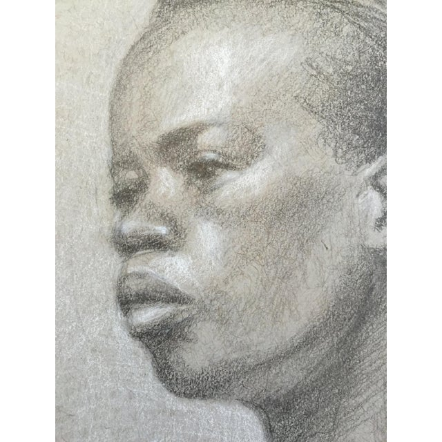 Original Graphite Life Sketch of Female Beauty For Sale - Image 4 of 4