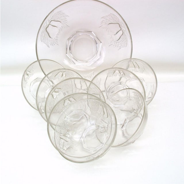 1930's Indiana Glass Pear Dessert Berry Bowls Set - Image 2 of 8