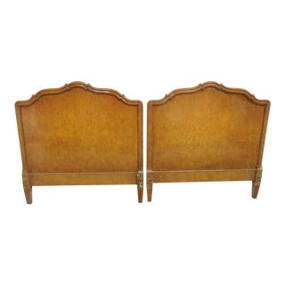 French Style Twin Size Headboards - a Pair For Sale