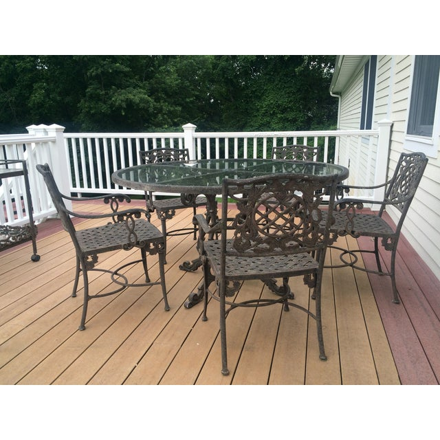Cast Classics Outdoor Table & Arm Chairs - Set of 6 - Image 11 of 11