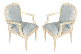 Image of Baby Blue Corner Chairs