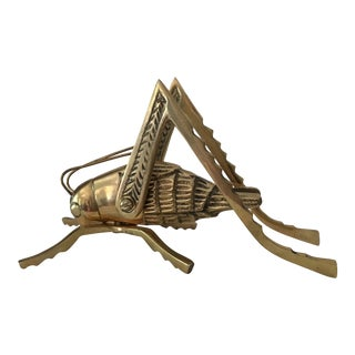 Solid Brass Grasshopper With Moveable Legs