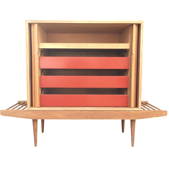 Milo Baughman Bench & Cabinet - Image 1 of 7