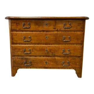 French Walnut Commode Chest of Drawers- 20th C For Sale