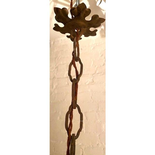 Italian Crystal Flower Pendant Light For Sale - Image 10 of 12