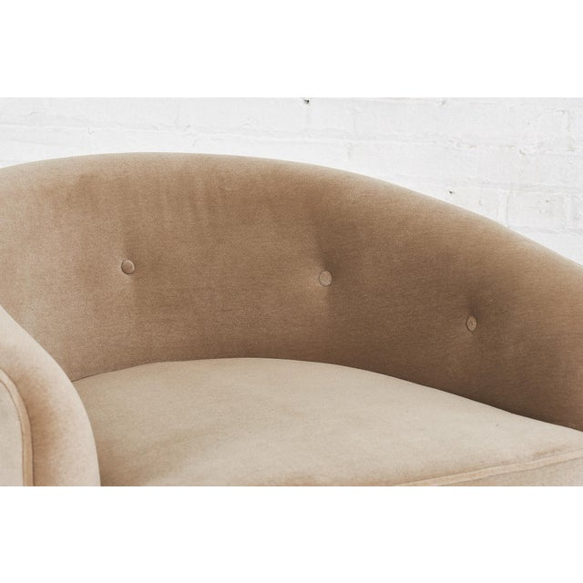 Milo Baughman Swivel Barrel Chairs on Walnut Bases, 1960 For Sale - Image 9 of 10