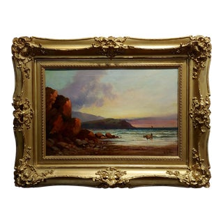 William Edward Webb - 19th Century Coastal Beach Scene -Oil Painting For Sale