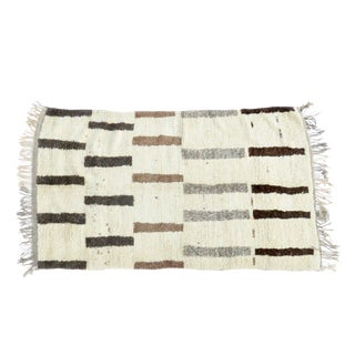 'Mr. Mid Century' Moroccan Azilal Rug - 4′1″ × 6′10″ For Sale