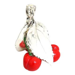 Marcello Giorgio Laminato Cherries Paper Weight For Sale