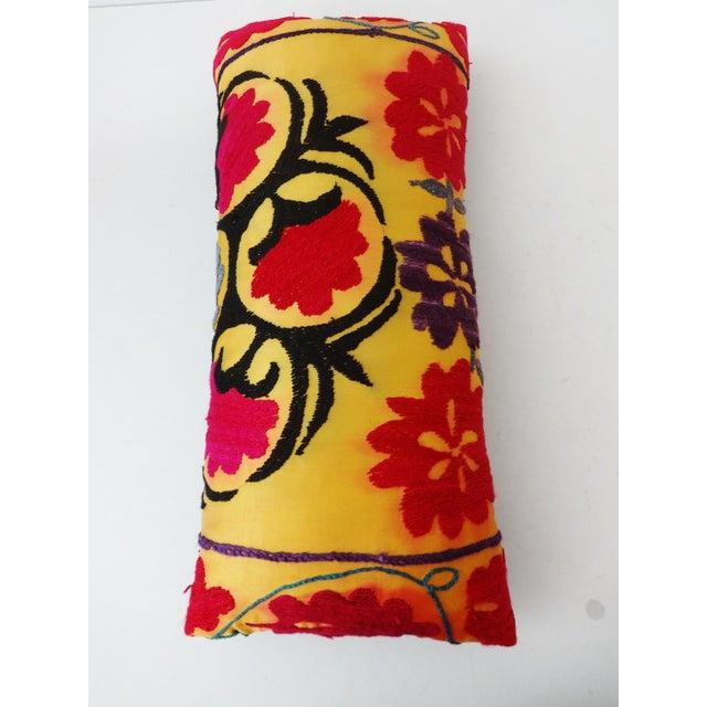 Antique Tribal Qashqa'i Fragment Lumbar Pillow - Image 8 of 8
