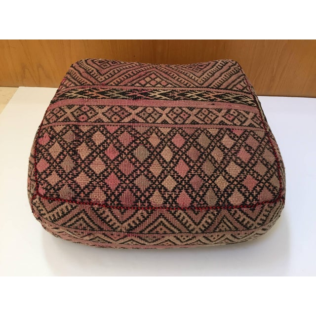 Boho Chic Vintage Moroccan Tribal Floor Pillow For Sale - Image 3 of 13