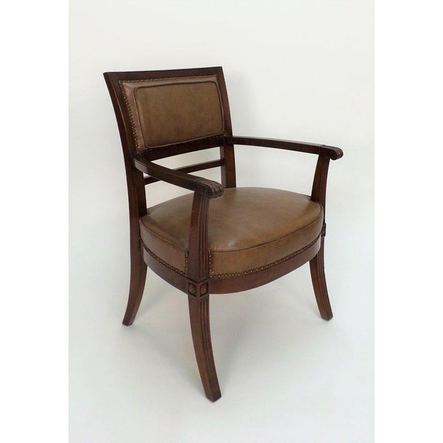 Frederick P. Victoria & Son, Inc. Empire Armchair For Sale - Image 4 of 11