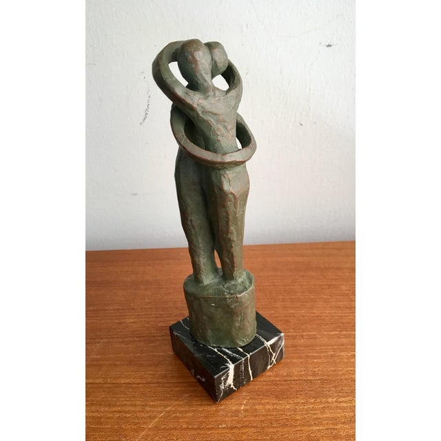"Marble Alva Studios Modernist ""Lovers"" Sculpture For Sale - Image 7 of 9"