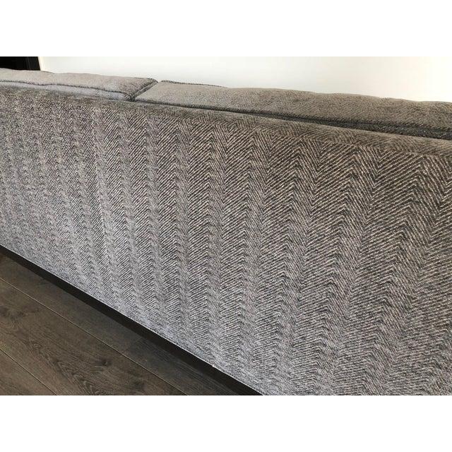 2010s Modern Gray Upholstered Sofa For Sale - Image 5 of 9