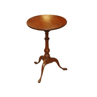 18th Century Federal Cherrywood Candlestand