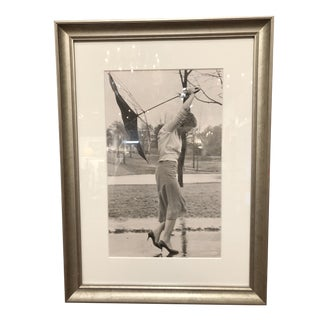 """Vintage Photo """"Woman in Storm"""" For Sale"""