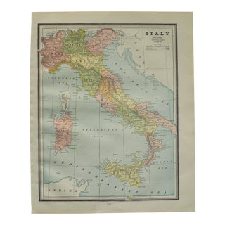 Map of Italy by George Cram, 1895 For Sale
