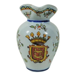 French Desvres Floral Pitcher