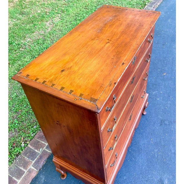 Antique 18th Century Colonial Chest on Stand For Sale In Washington DC - Image 6 of 10