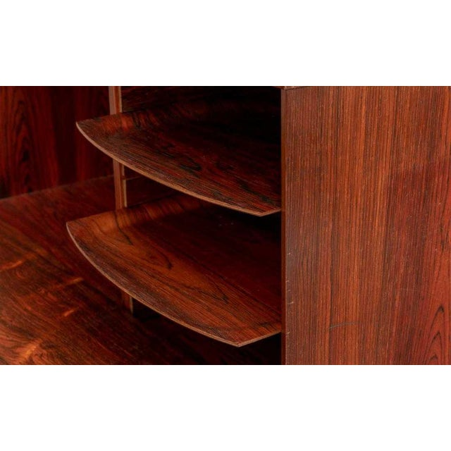 Mid 20th Century Impressive Danish Modern Rosewood Wall Unit For Sale - Image 5 of 9