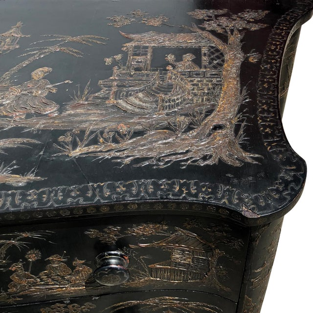 18th Century Italian Japanense Style Two Drawer Chest For Sale In Charleston - Image 6 of 7