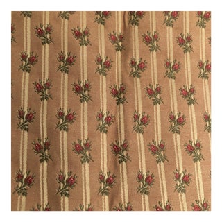 Rose Green and a Stripe of Off-White Fabric - 7 Yards For Sale