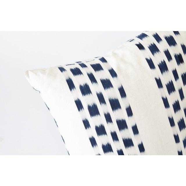 Cotton Schumacher Izmir Stripe Pillow in Blue/White 26x26 - Pair For Sale - Image 7 of 8