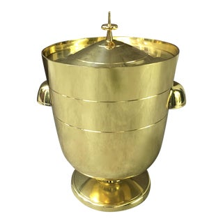 Brass Tommi Parzinger Ice Bucket For Sale